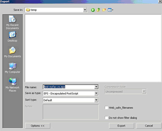 export eps from Corel